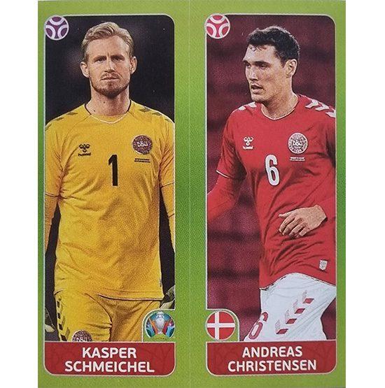 Panini EURO 2020 Sticker Nr 150 Schmeichel Christensen