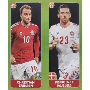 Panini EURO 2020 Sticker Nr 153 Eriksen Hojbjerg
