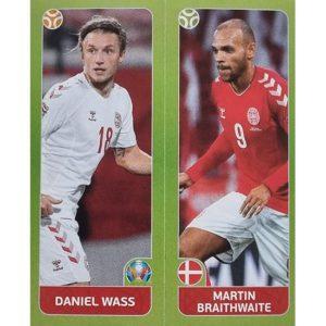 Panini EURO 2020 Sticker Nr 154 Wass Braithwaite