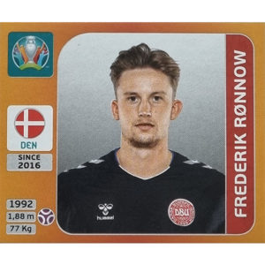 Panini EURO 2020 Sticker Nr 158 Frederik Ronnow