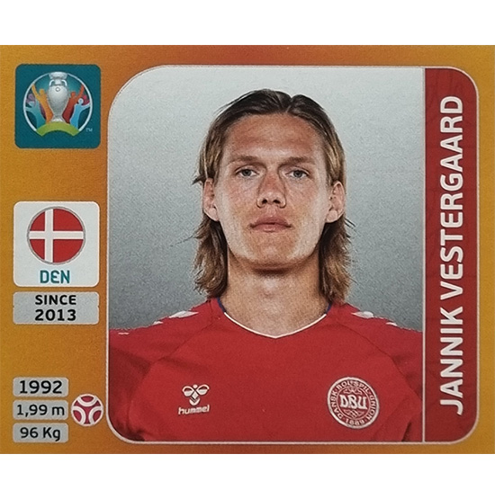 Panini EURO 2020 Sticker Nr 164 Jannik Vestergaard