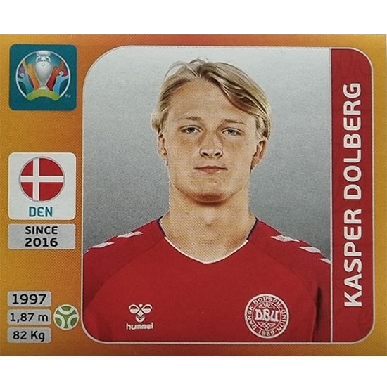 Panini EURO 2020 Sticker Nr 172 Kasper Dolberg