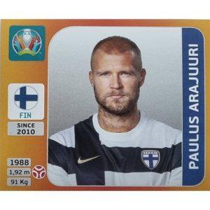 Panini EURO 2020 Sticker Nr 181 Paulus Arajuuri