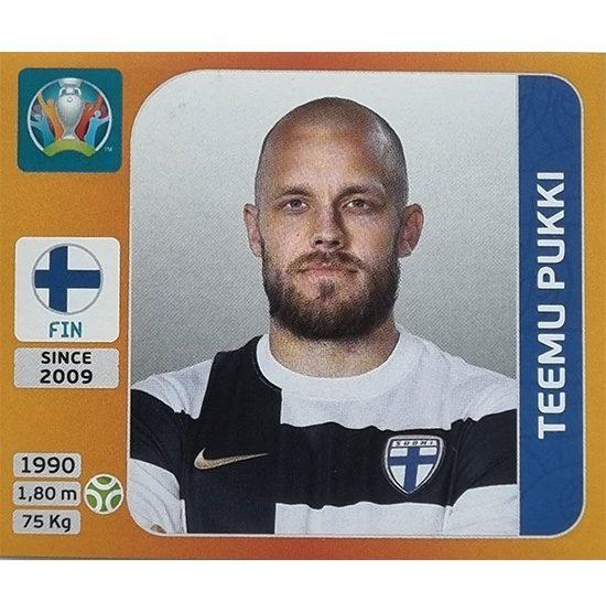 Panini EURO 2020 Sticker Nr 197 Teemu Pukki