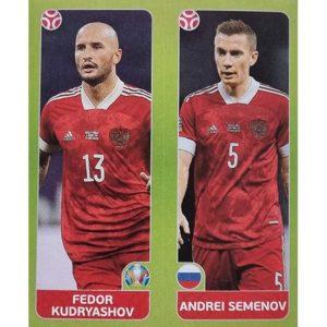 Panini EURO 2020 Sticker Nr 205 Kudryashov Semenov