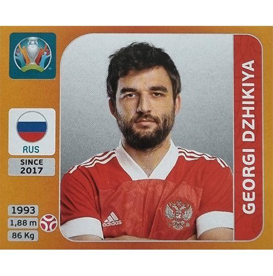 Panini EURO 2020 Sticker Nr 213 Georgi Dzhikiya