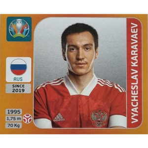 Panini EURO 2020 Sticker Nr 214 Vyacheslav Karavaev