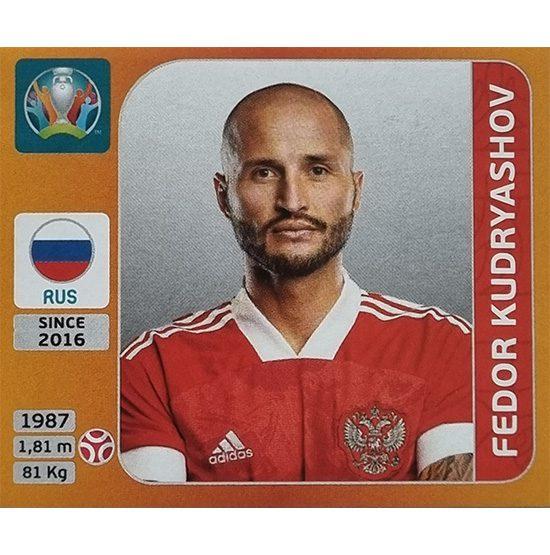 Panini EURO 2020 Sticker Nr 215 Fedor Kudryashov