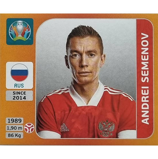 Panini EURO 2020 Sticker Nr 217 Andrei Semenov
