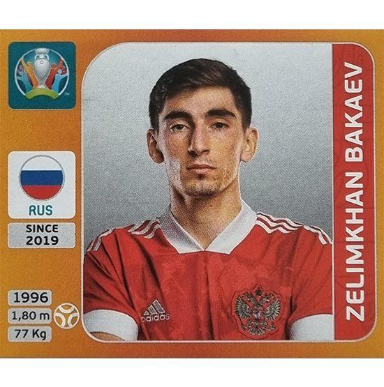 Panini EURO 2020 Sticker Nr 218 Zelimkhan Bakaev