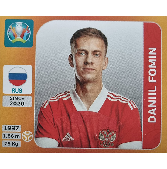 Panini EURO 2020 Sticker Nr 220 Daniil Fomin