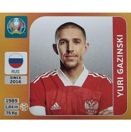 Panini EURO 2020 Sticker Nr 221 Yuri Gazinski