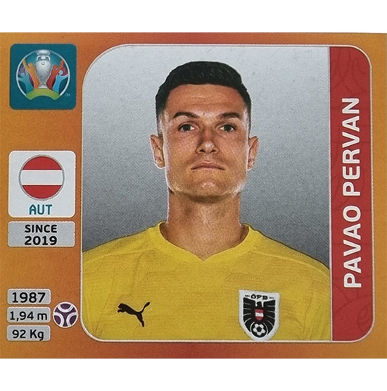 Panini EURO 2020 Sticker Nr 236 Pavaro Pervan
