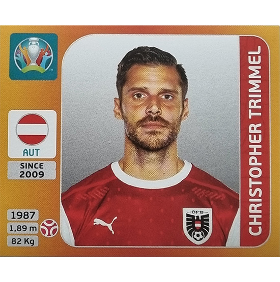 Panini EURO 2020 Sticker Nr 243 Christopher Trimmel