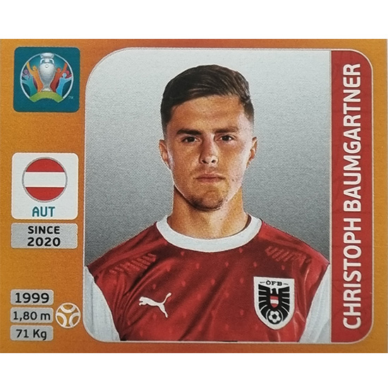 Panini EURO 2020 Sticker Nr 246 Christoph Baumgartner