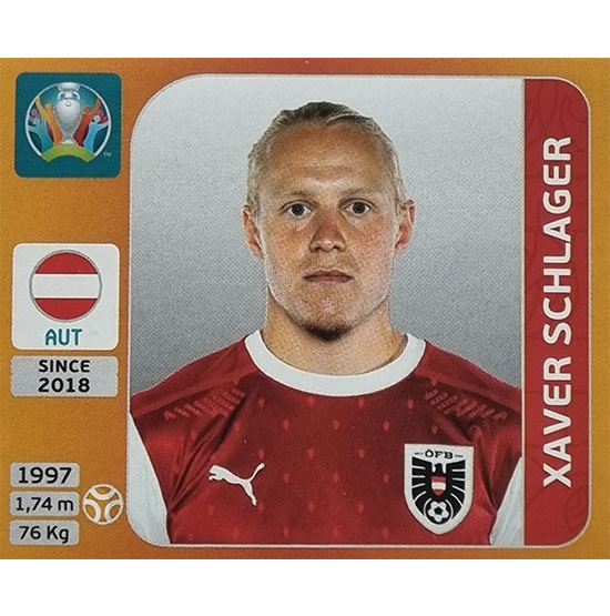 Panini EURO 2020 Sticker Nr 251 Xaver Schlager