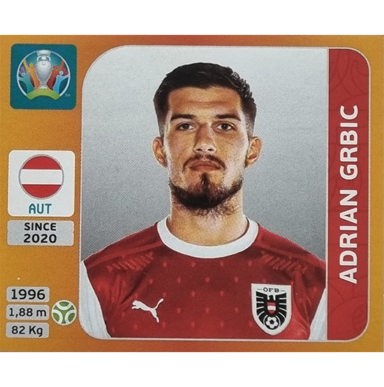 Panini EURO 2020 Sticker Nr 253 Adrian Grbic