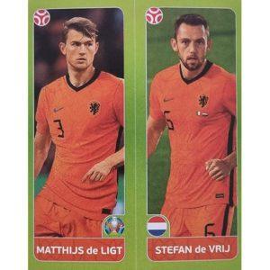 Panini EURO 2020 Sticker Nr 263 De Ligt De Vrij
