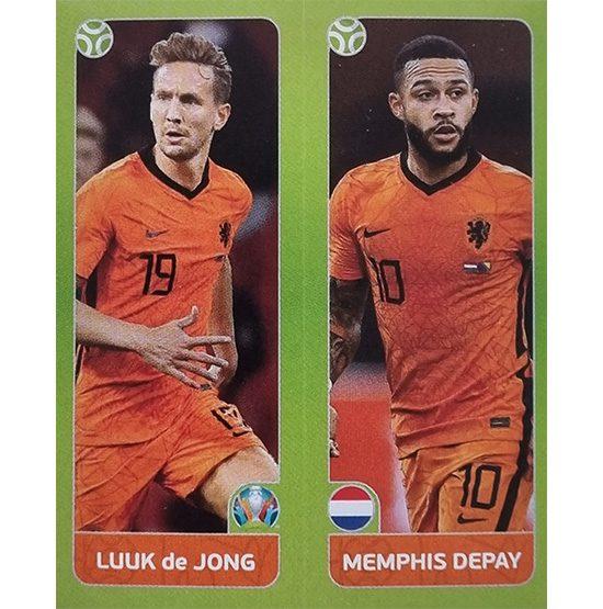 Panini EURO 2020 Sticker Nr 267 De Jong Depay