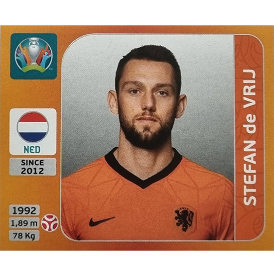 Panini EURO 2020 Sticker Nr 274 Stefan de Vrij