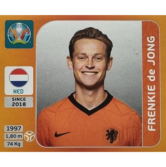 Panini EURO 2020 Sticker Nr 280 Frenkie de Jong