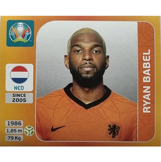 Panini EURO 2020 Sticker Nr 285 Ryan Babel