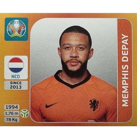 Panini EURO 2020 Sticker Nr 288 Memphis Depay