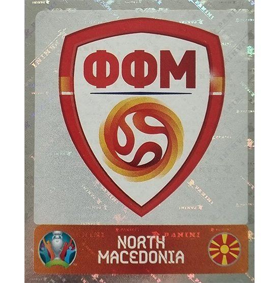 Panini EURO 2020 Sticker Nr 289 North Macedonia Logo
