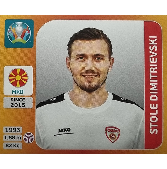 Panini EURO 2020 Sticker Nr 290 Stole Dimitrievski