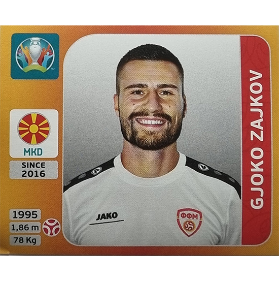 Panini EURO 2020 Sticker Nr 297 Gjoko Zajkov