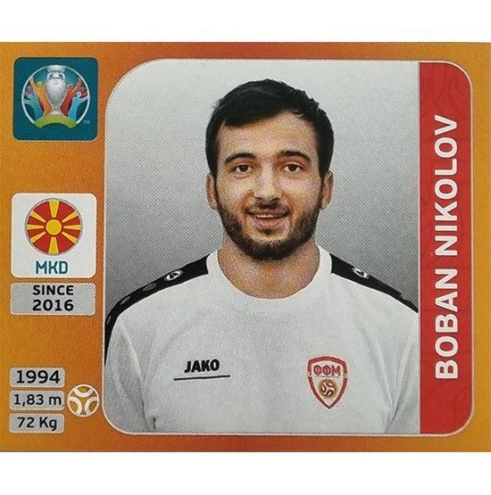 Panini EURO 2020 Sticker Nr 303 Boban Nikolov