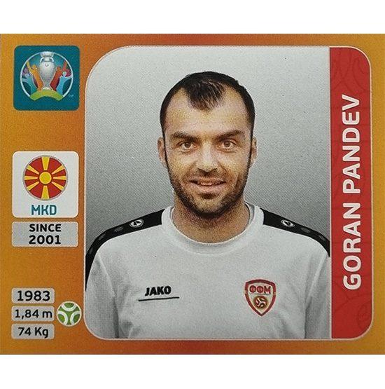 Panini EURO 2020 Sticker Nr 306 Goran Pandev