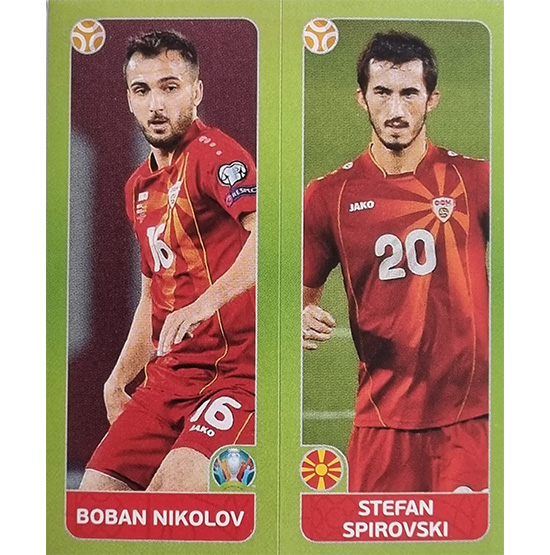 Panini EURO 2020 Sticker Nr 314 Nikolov Spirovski