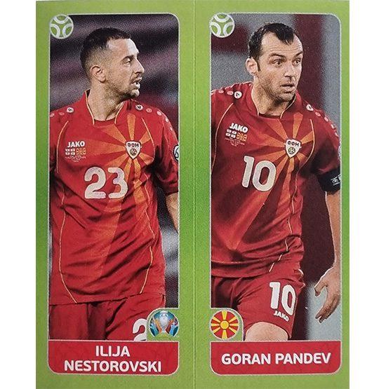 Panini EURO 2020 Sticker Nr 315 Nestorovski Pandev