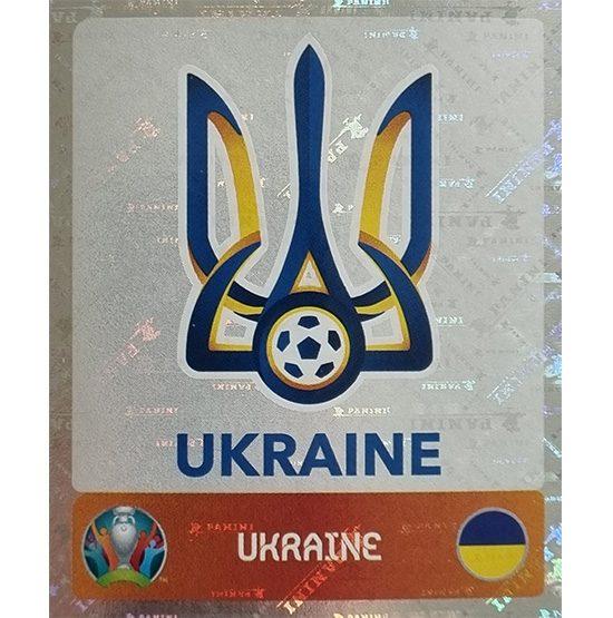 Panini EURO 2020 Sticker Nr 322 Ukraine Logo