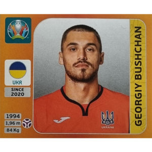 Panini EURO 2020 Sticker Nr 324 Georgiy Bushchan