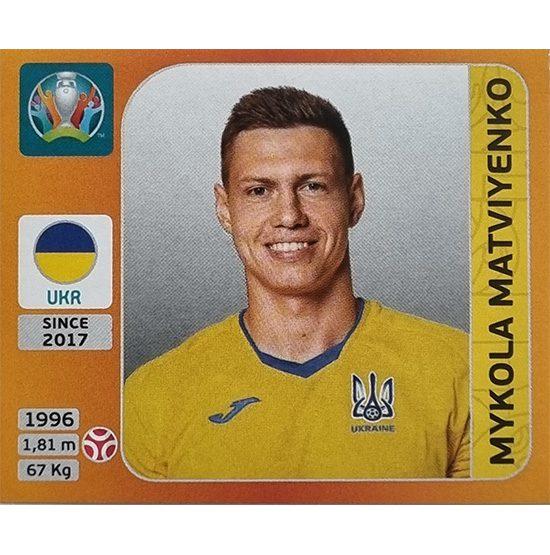 Panini EURO 2020 Sticker Nr 327 Mykola Matviyenko