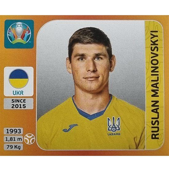 Panini EURO 2020 Sticker Nr 333 Ruslan Malinovskyi