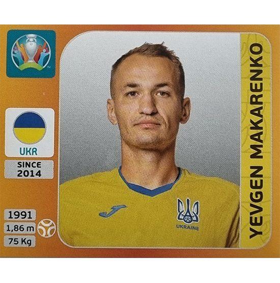 Panini EURO 2020 Sticker Nr 334 Yevgen Makarenko