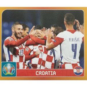 Panini EURO 2020 Sticker Nr 343 Croatia