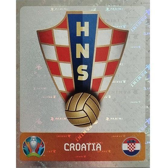 Panini EURO 2020 Sticker Nr 347 Croatia Logo