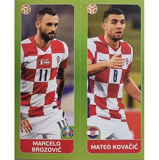 Panini EURO 2020 Sticker Nr 370 Brozovic Kovacic