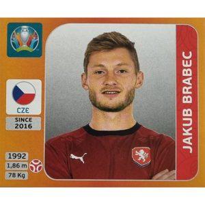 Panini EURO 2020 Sticker Nr 384 Jakub Brabec