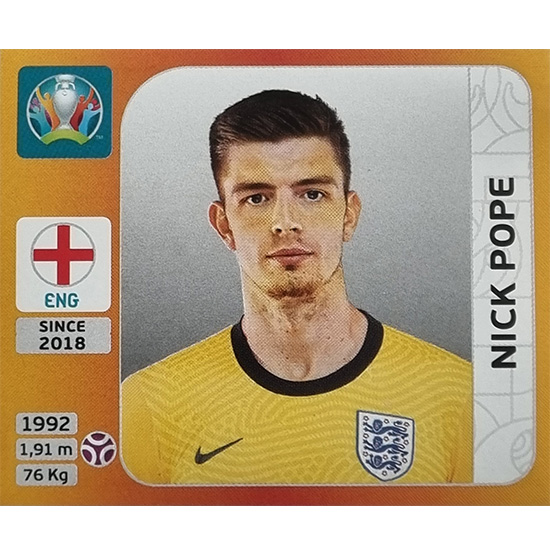 Panini EURO 2020 Sticker Nr 403 Nick Pope