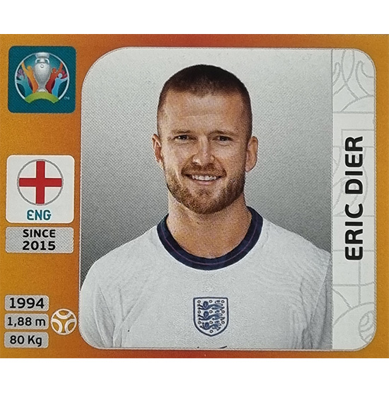 Panini EURO 2020 Sticker Nr 411 Eric Dier