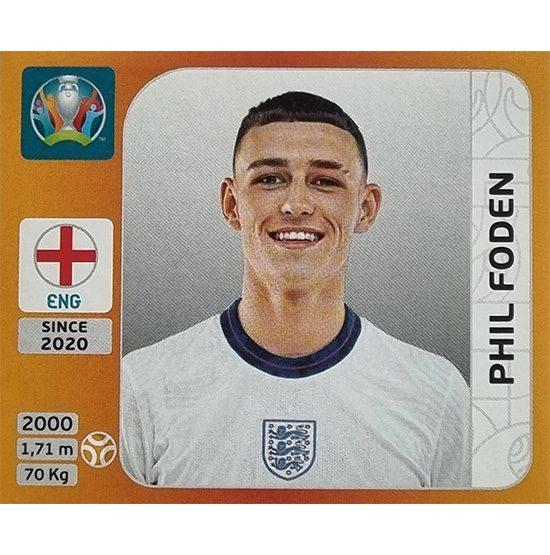 Panini EURO 2020 Sticker Nr 412 Phil Foden