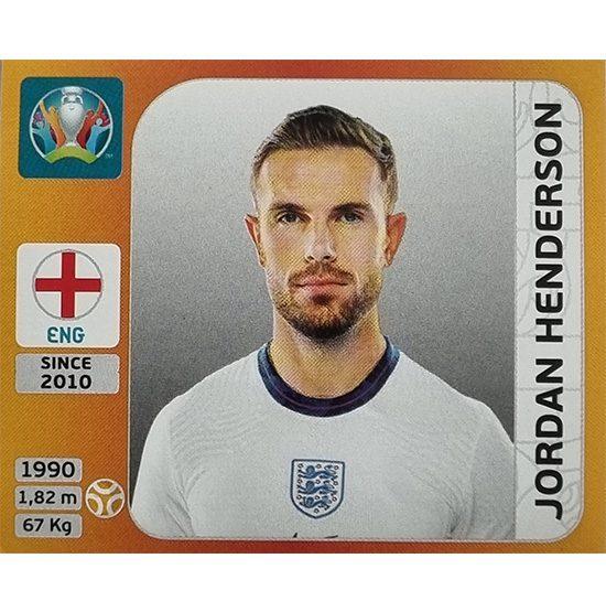 Panini EURO 2020 Sticker Nr 414 Jordan Henderson