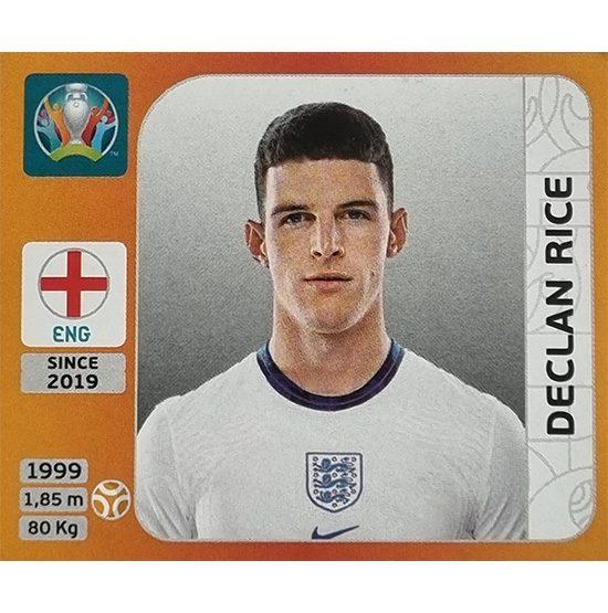 Panini EURO 2020 Sticker Nr 416 Declan Rice