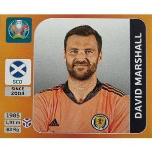 Panini EURO 2020 Sticker Nr 435 David Marshall
