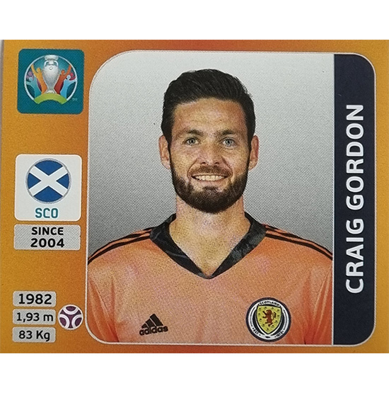 Panini EURO 2020 Sticker Nr 436 Craig Gordon